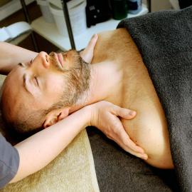 Man having a massage